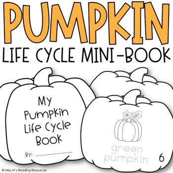 Pumpkin Life Cycle Book {for Target Dollar Spot Blank Books}