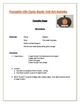 Pumpkin Life Cycle Book: Fall Art Activity