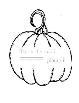 "Pumpkin Life Cycle Book- ""My Pumpkin"""