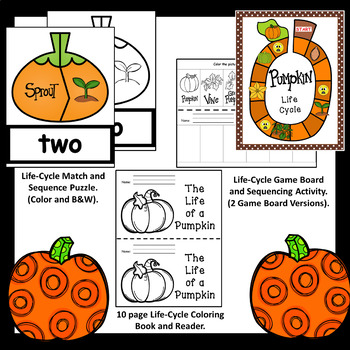 Pumpkin Life Cycle Bundle (Non-Fiction Readers, Centers, and Activities)