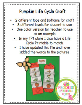 Pumpkin Life Cycle Craft