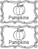 Pumpkin Life Cycle Emergent Reader