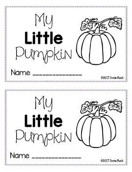 Pumpkin Life Cycle - Emergent Reader  Booklet and Posters Kindergarten Book