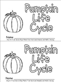 Pumpkin Life Cycle Emergent Reader for Kindergarten- Autumn/Fall