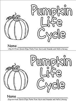 Pumpkin Life Cycle Emergent Reader for Kindergarten- Autumn/Fall