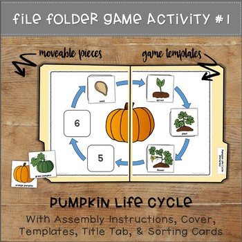 Pumpkin Life Cycle File Folder Games