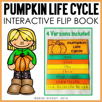 Pumpkin Life Cycle Flip Book (4 Differentiated Versions)