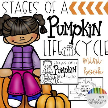 Stages of a Pumpkin Life Cycle Mini Book