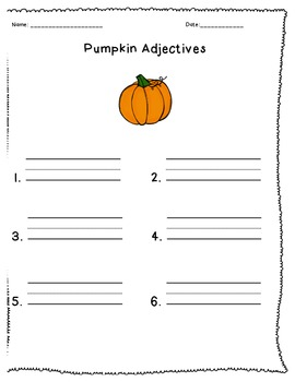 Pumpkin Life Cycle Mini-Unit
