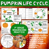 Pumpkin Life Cycle Activities   Sequencing   Science Lesson or Review