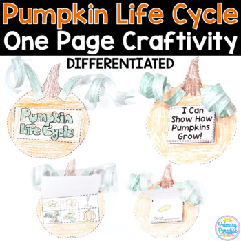 Pumpkin Life Cycle: One Page Pumpkin Craftivity