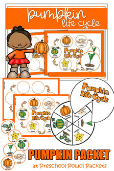 Pumpkin Life Cycle Packet (with spinner!)