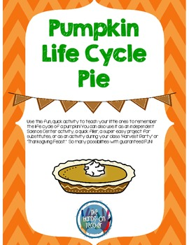 Pumpkin Life Cycle Pie