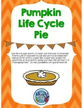 Pumpkin Life Cycle Pie