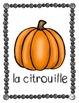 Pumpkin Life Cycle Posters ~ French ~ Le cycle de vie d'une citrouille