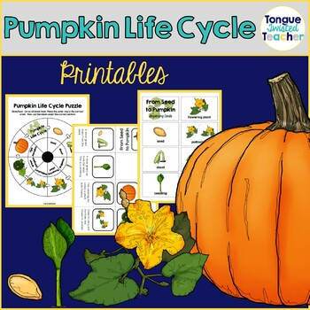 Pumpkin Life Cycle {Puzzle, Sequencing Cards, and Mini-books)