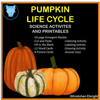 Pumpkin Life Cycle Science Printables for Kindergarten