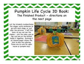 Pumpkin Life Cycle - Science Unit with Math and ELA activities - Grades K - 2