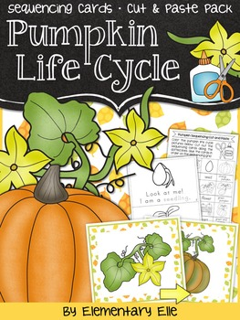Pumpkin Life Cycle Sequencing {Pocket Chart Activity • Cut