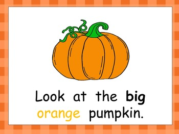 Pumpkin Life Cycle Shared Reading PowerPoint- Kindergarten- Autumn/Fall