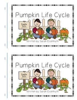 Pumpkin Life Cycle predictable text book FREEBIE