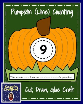 Pumpkin (Line) Counting Craft (Halloween, Autumn)
