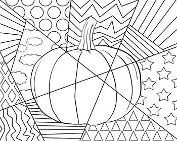 Pumpkin Lines Coloring Sheet