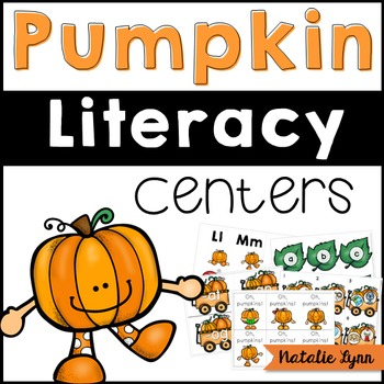 Pumpkin Literacy Centers for Kindergarten