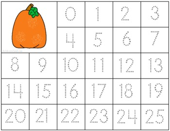 Pumpkin Literacy and Math Learning Centers