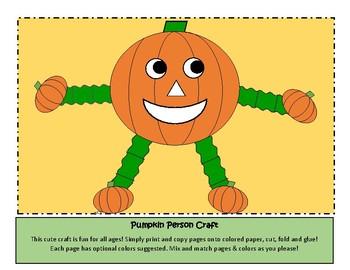Pumpkin Person Craft