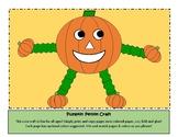Fall Pumpkin Person Craft