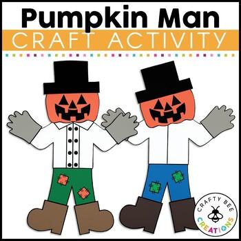 Pumpkin Man Cut and Paste