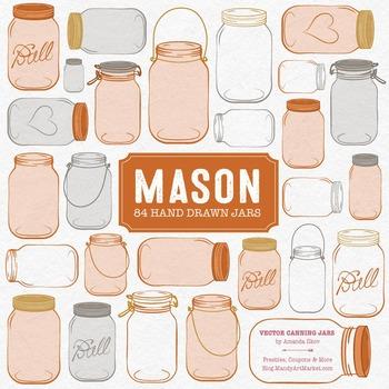Pumpkin Mason Jars Clipart & Vectors - Ball Jar Clipart