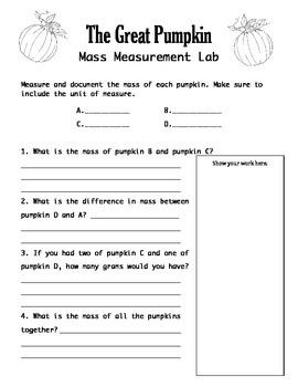 Pumpkin Mass Lab