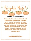Pumpkin Match: Matching Letters to Beginning Sounds