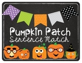 Pumpkin Match (Subject Verb Agreement) Halloween/Pumpkin Theme Center