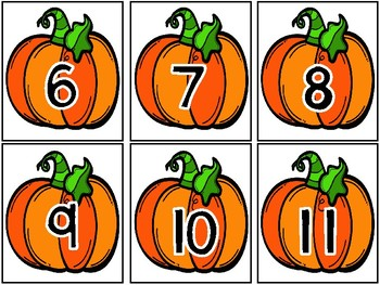 Pumpkin Match Up! Matching Numbers and Arrangements to 20
