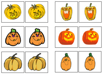 Pumpkin Match-Up and Memory