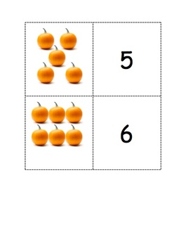 Pumpkin Matching Game 1-10