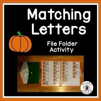 Pumpkins ABC File Folder Activity