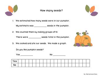 Pumpkin Math Measurement and Data