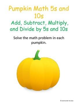 Pumpkin Math 5s and 10s