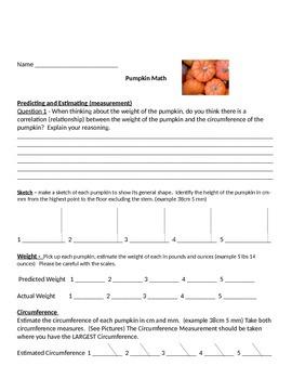 Pumpkin Math A Hands On Math Exploration