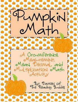 Pumpkin Math: A Measurement, Mean, Decimal, & Multiplicati