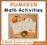 Pumpkin Math Activities: Measurement, Area, Perimeter, Graph, Arrays
