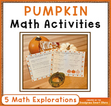 Pumpkin Math Activities: Measurement, Area, Perimeter, Gra