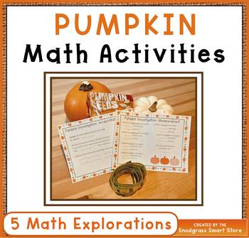 Pumpkin Math Activities - Measurement, Area, Perimeter, Gr