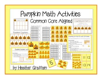 Pumpkin Math Activities Common Core Aligned