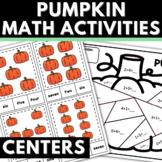 Pumpkin Math Activities for Kindergarten Base Ten Addition