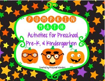 Pumpkin Math Activities for Preschool, Pre-K, and Kindergarten